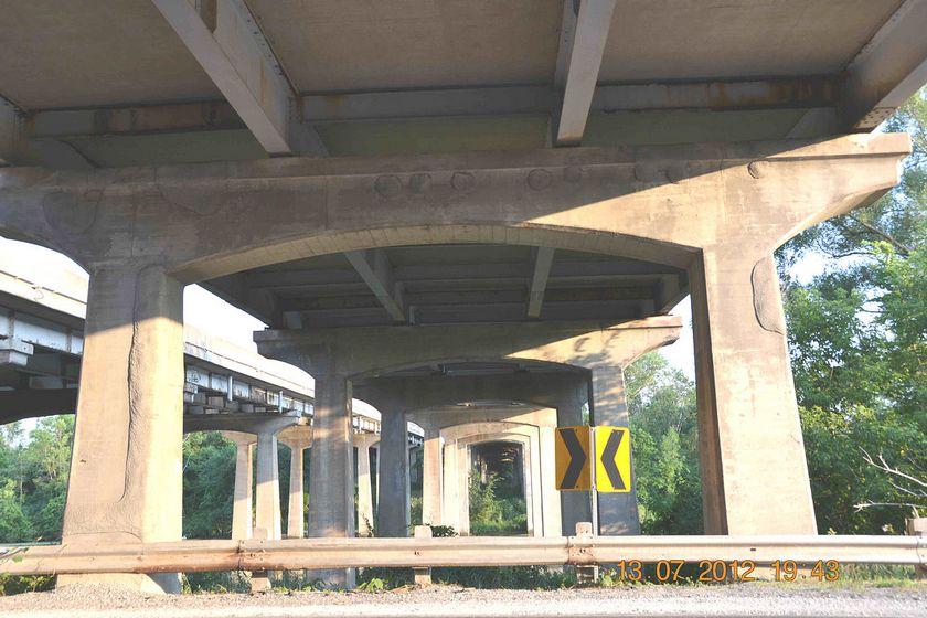 Betonreparatie brug viaduct