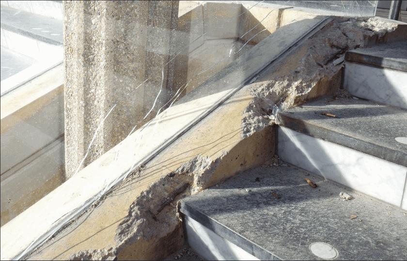 Betonrot en betonschades
